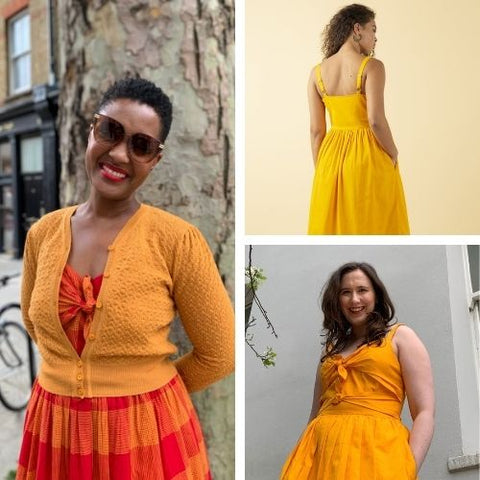 Yellow and red sundresses