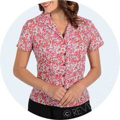 Red Liberty Hampstead Blouse