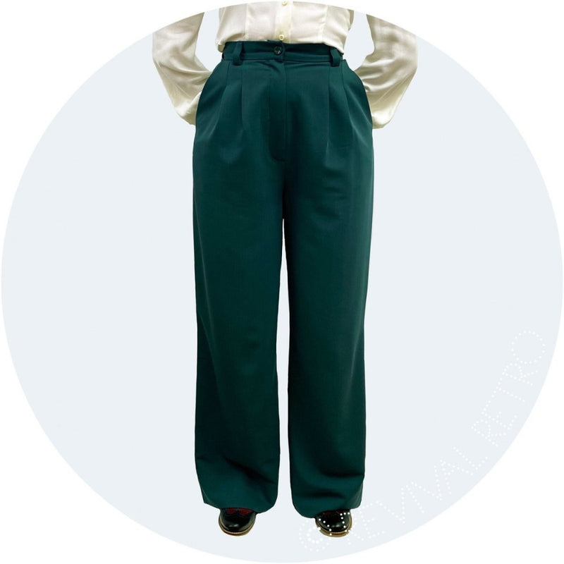 Green high waisted trousers by Emmy Design Sweden