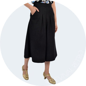 A-line Culottes made in Britain from lightweight wool