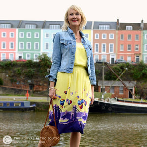Becky Bettesworth BristolPrint viscose skirt made in Britain