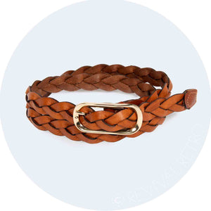 Braided Leather Belt | Tan Plait