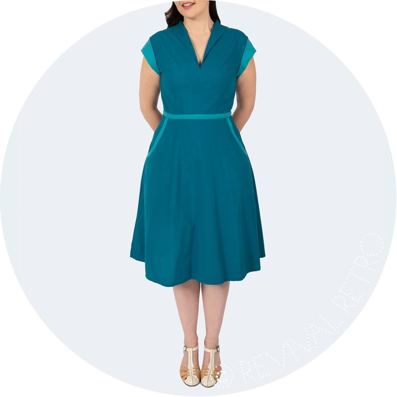 teal retro dress cambridge
