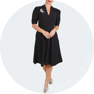 Sophisticated Elegant Vintage Black Dress