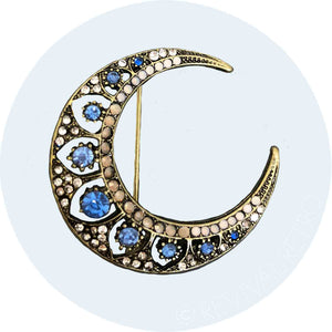 Crescent Moon Brooch