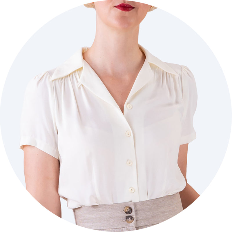 Chambray Cream Favourite Blouse Emmy Design