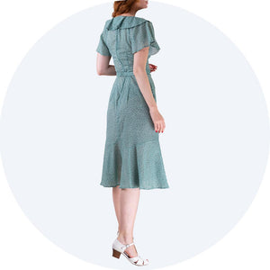 Green dots Dress Lovey Dovey Emmy Design