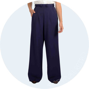 1940s High Waist Trousers