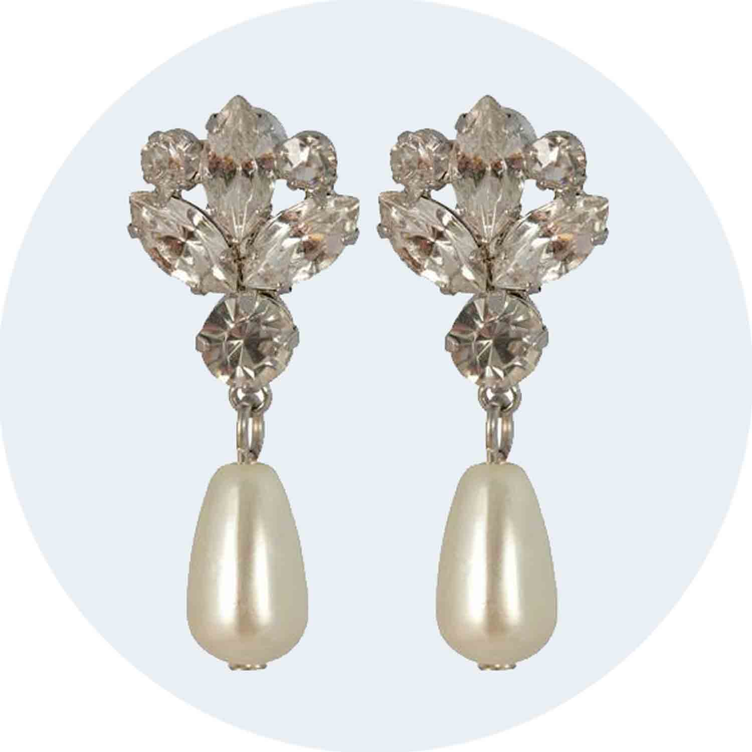 Margaret 1950s Pearl Earrings