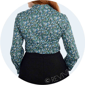 Long sleeve blouse in Floral Affair Liberty Heritage Print
