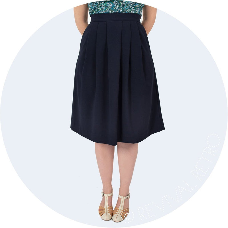 Flattering pleated skirt made in Britain