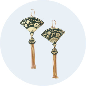 Tasselled Fan Earrings
