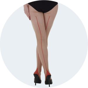 Retro Contrast Seamed Tights