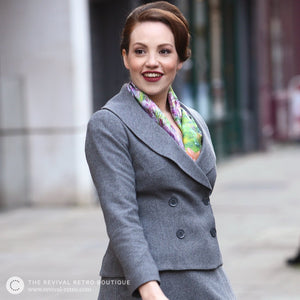 Womens double breasted suit jacket with shawl collar