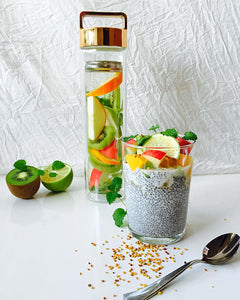 Apple, Kiwi, Wild Mint & Orange Detox Water // @amandadorothea