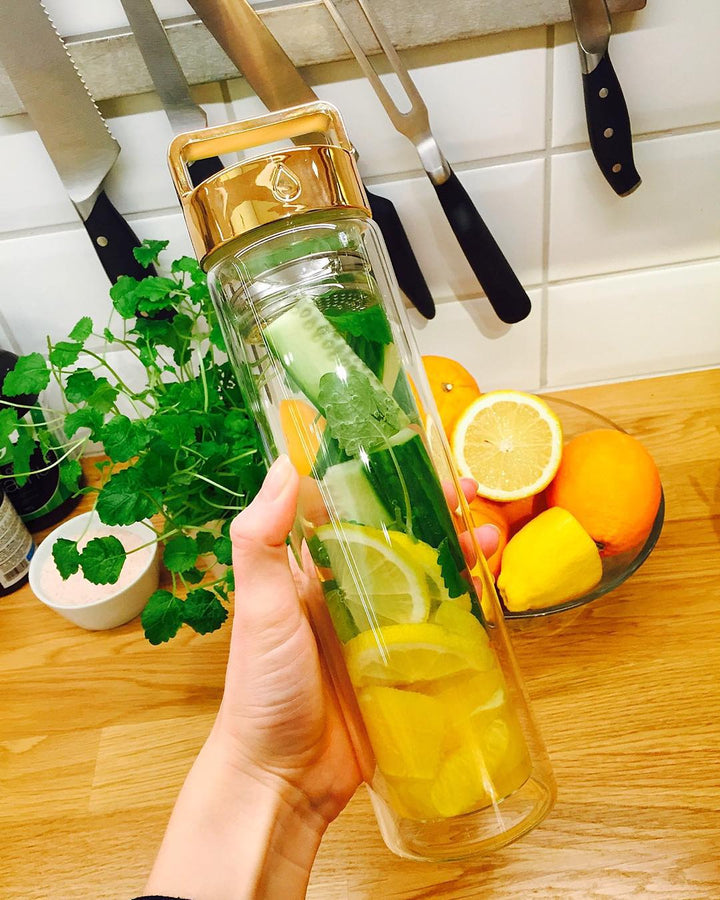 Cucumber, Wild Mint, Lemon & Orange Detox Water // @amandadorothea