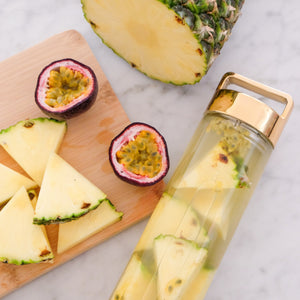 Coconut, Pineapple + Passionfruit Detox Water