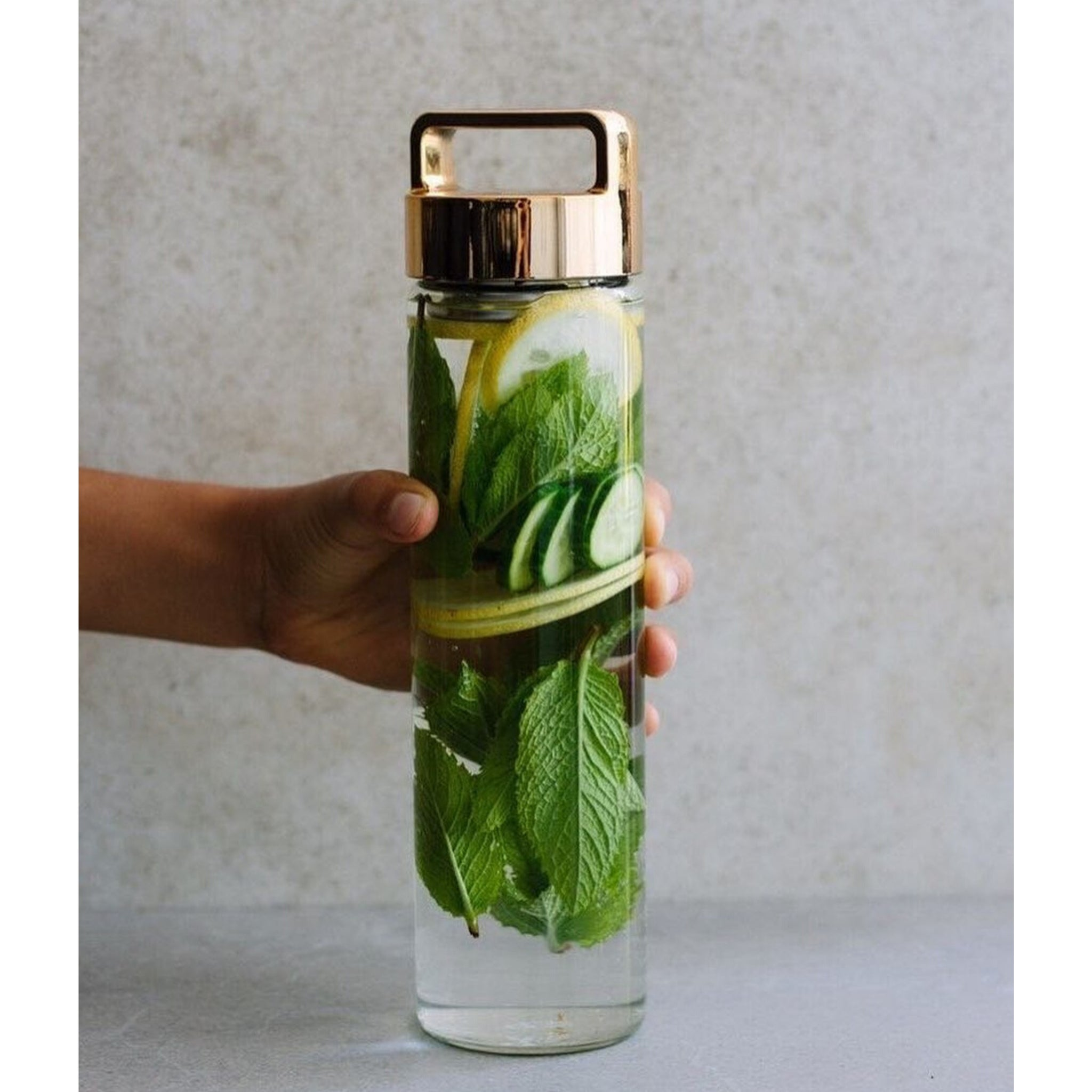 Mint, Cucumber + Lemon Detox Water