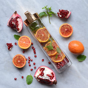 Pomegranate, Blood Orange and Mint Detox Water // By @alphafoodie
