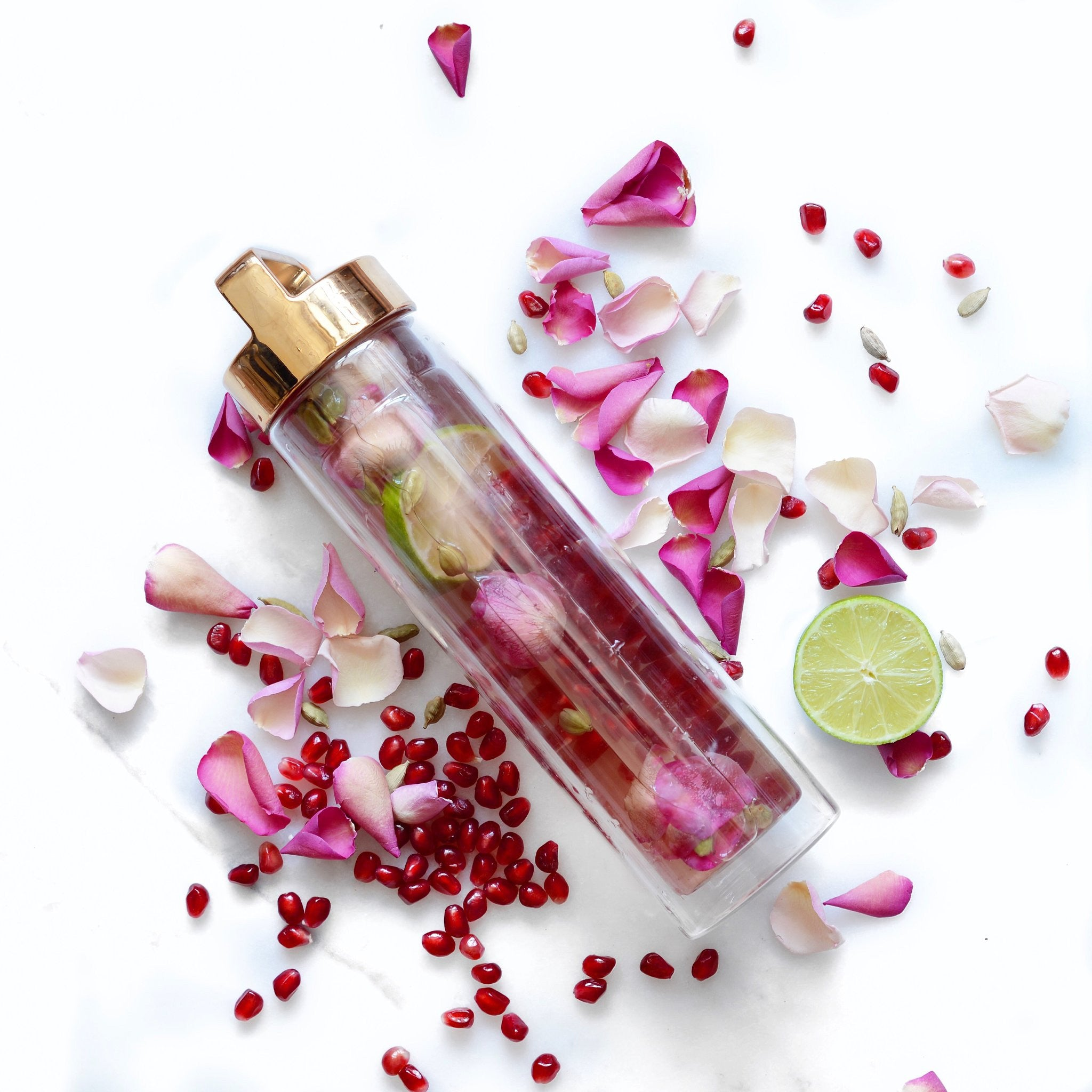 Rose, Pomegranate & Lime Beauty Tonic // @alphafoodie