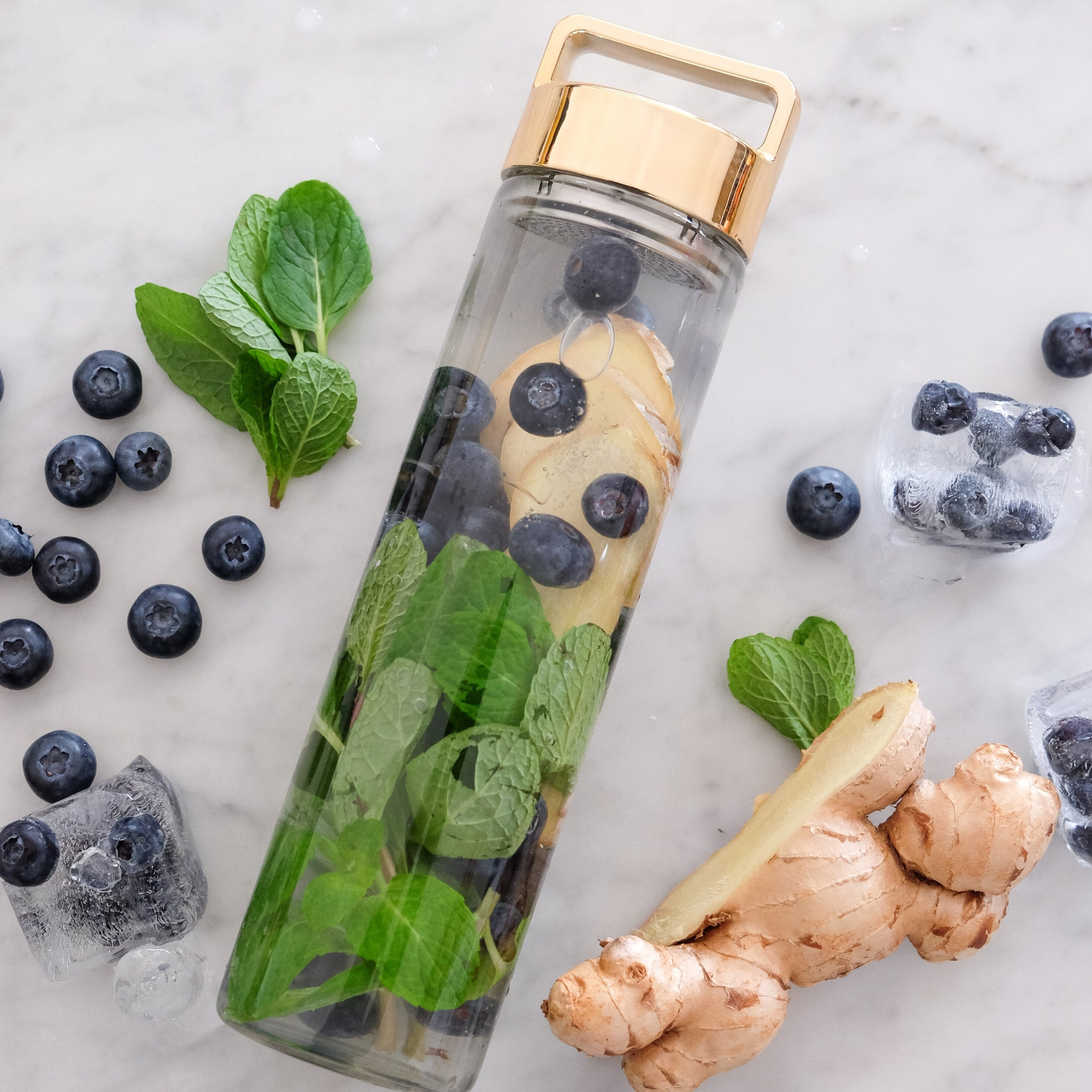 Blueberry, Ginger & Mint Detox Water