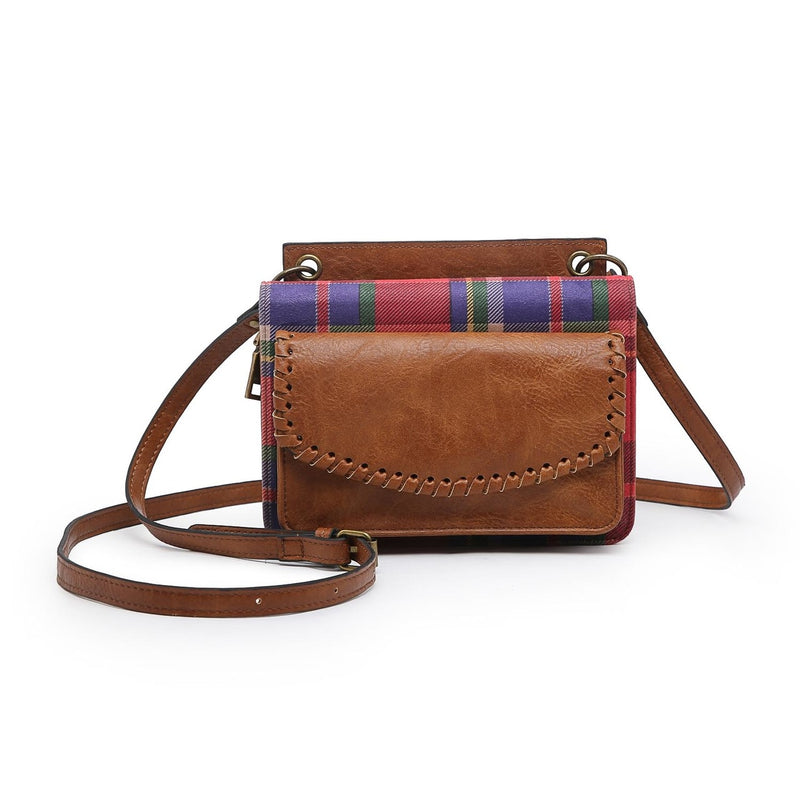 Franny Crossbody/Wallet (Brown/Plaid)