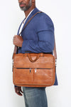 Willie Laptop Briefcase (Brown)