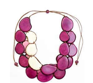 Amigas Necklace Purple/Ivory/Pink