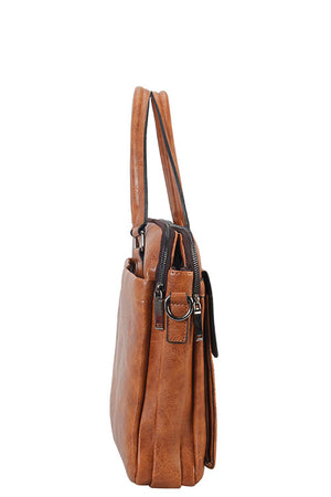 Mason Briefcase Man Bag (Brown)