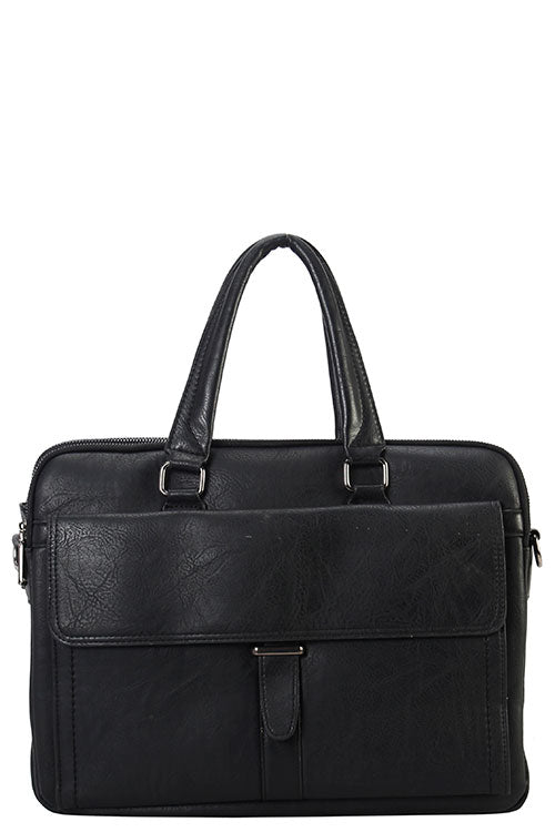 Mason Briefcase Man Bag (Black)