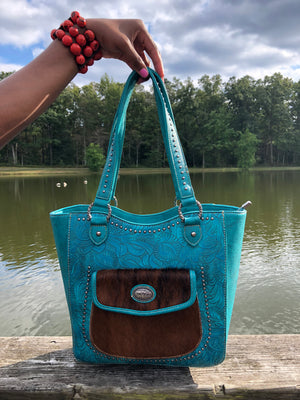 Beauty and the Beast Concealed Handgun Handbag (Turquoise)