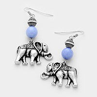Elephant Earrings Silver