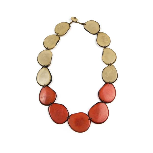 Santa Cruz Necklace Naranja/Ivory