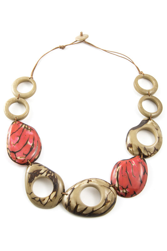 La Boca Necklace Poppy Coral Combo