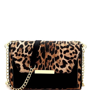 Mya (Leopard/Black) Crossbody