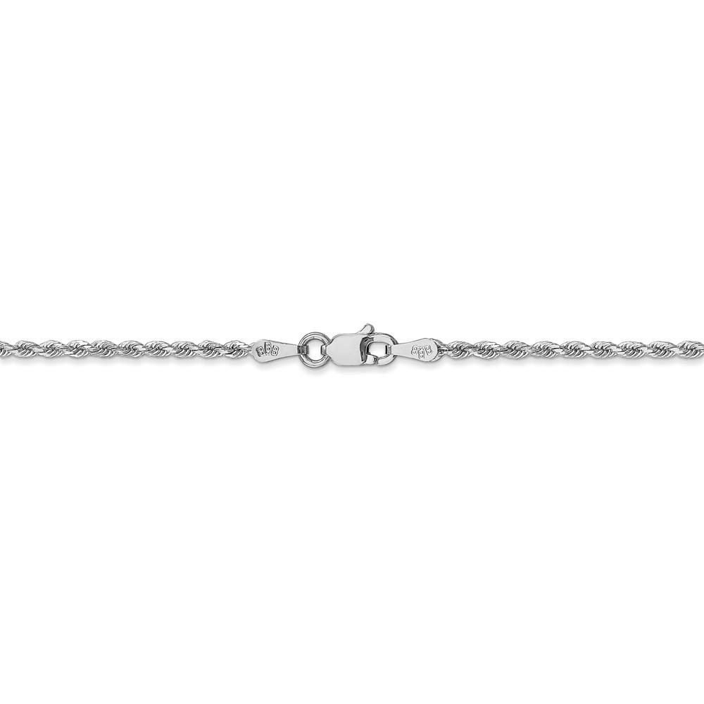 14k White Gold 1.75mm Link Rope Chain Necklace 24 Inch Pendant Charm Handmade Fine Jewelry Gifts For Women For Her Pendant Necklaces IceCarats.com Designer Jewelry Gift USA