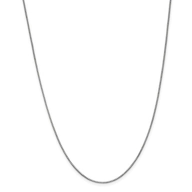 14k White Gold 1mm Link Box Chain Necklace 16 Inch Pendant Charm Fine Jewelry Gifts For Women For Her Pendant Necklaces IceCarats.com Designer Jewelry Gift USA