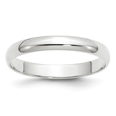 14k White Gold 3mm Ltw Half Round Wedding Ring Band Size 11 Classic Fine Jewelry Gifts For Women For Her Wedding Bands IceCarats.com Designer Jewelry Gift USA