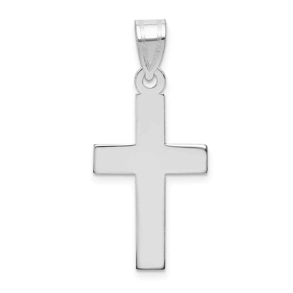 14k White Gold Cross Religious Pendant Charm Necklace Latin Fine Jewelry Gifts For Women For Her Pendant Necklaces IceCarats.com Designer Jewelry Gift USA