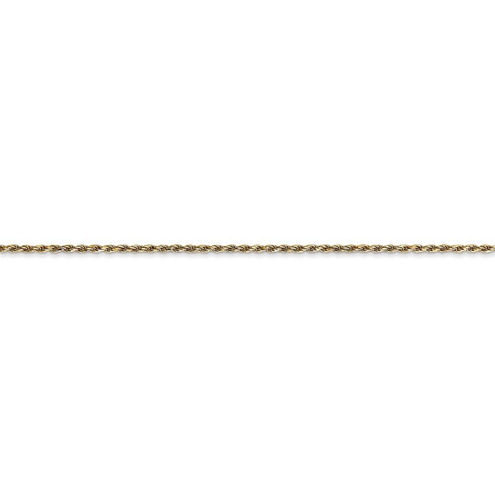 14k Yellow Gold 1.15mm Link Rope Necklace Chain Pendant Charm Fine Jewelry Gifts For Women For Her Pendant Necklaces IceCarats.com Designer Jewelry Gift USA