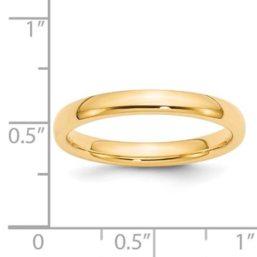 14k Yellow Gold 3mm Comfort Fit Wedding Ring Band Classic Domed Cf Style Mm B Width Fine Jewelry Gifts For Women For Her >Jewelry>Rings>Wedding Bands>Classic Bands>Comfort Fit>CF Style Series>3mm Band Width >Jewelry>Rings>Wedding Bands>Classic Bands>Comfort Fit>CF Style Series>3mm Band Width
