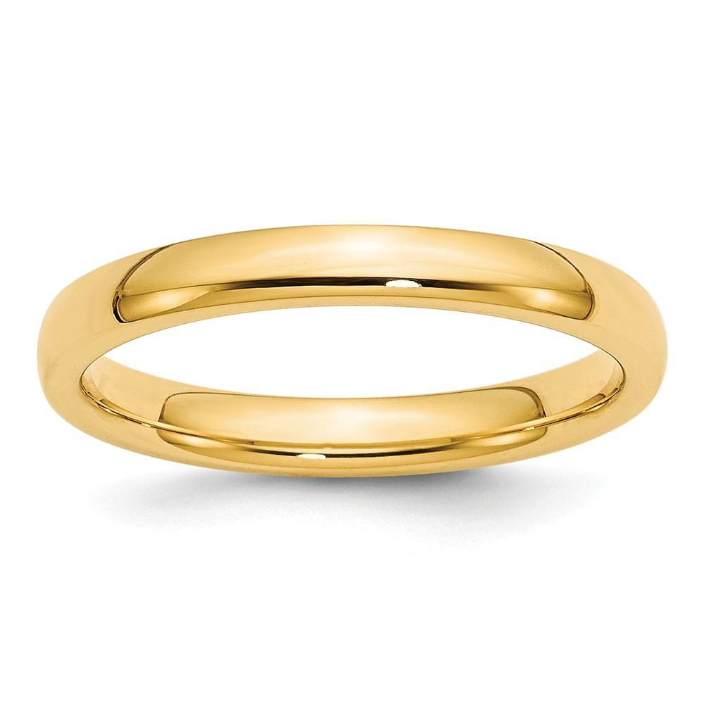 14k Yellow Gold 3mm Comfort Fit Wedding Ring Band Classic Domed Cf Style Mm B Width Fine Jewelry Gifts For Women For Her Wedding Bands IceCarats.com Designer Jewelry Gift USA