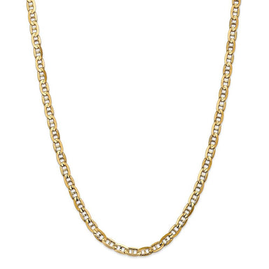 14k Yellow Gold 5.25mm Concave Link Anchor Necklace Chain Pendant Charm Fine Jewelry Gifts For Women For Her Link Bracelets IceCarats.com Designer Jewelry Gift USA