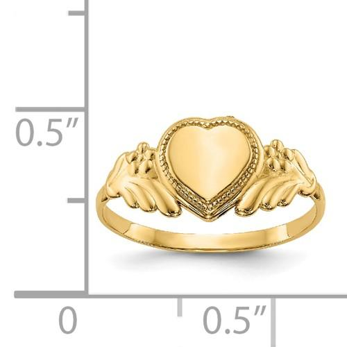14k Yellow Gold Heart Baby Band Ring Fine Jewelry Gifts For Women For Her >Jewelry>Rings>Baby & Childrens Rings>Baby Rings >Jewelry>Rings>Baby & Childrens Rings>Baby Rings