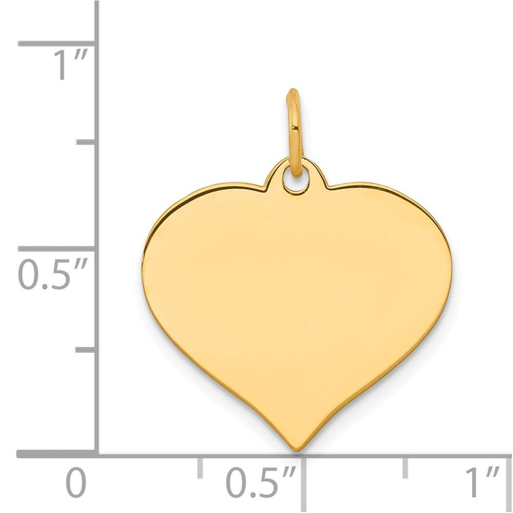 14k Yellow Gold Heart Disc Pendant Charm Necklace Engravable Curved Shaped Fine Jewelry Gifts For Women For Her Pendant Necklaces IceCarats.com Designer Jewelry Gift USA