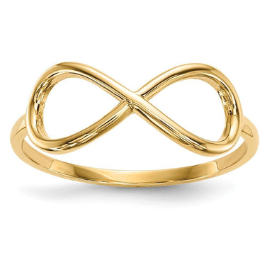 14k Yellow Gold Infinity Band Ring Fine Jewelry Gifts For Women For Her Wedding Bands IceCarats.com Designer Jewelry Gift USA