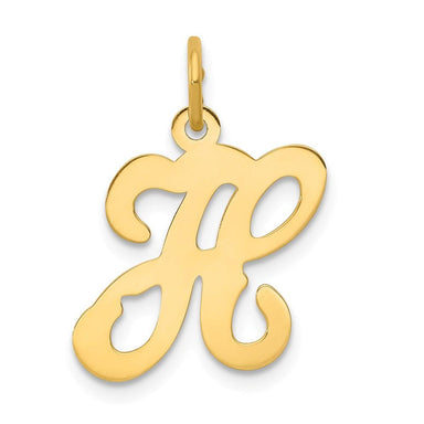 14k Yellow Gold Initial Monogram Name Letter H Pendant Charm Necklace Fine Jewelry Gifts For Women For Her Pendant Necklaces IceCarats.com Designer Jewelry Gift USA