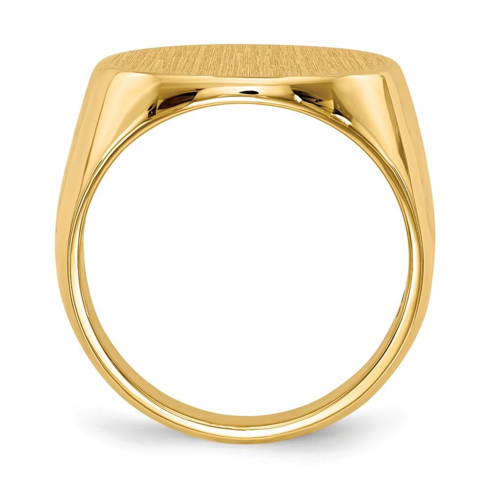 14k Yellow Gold Mens Signet Band Ring Man Fine Jewelry Gift For Dad Mens For Him Wedding Bands IceCarats.com Designer Jewelry Gift USA