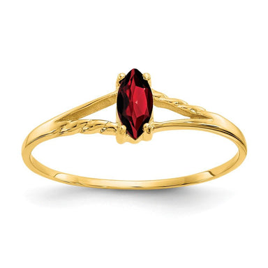14k Yellow Gold Red Garnet Birthstone Band Ring Stone January Marquise Fine Jewelry Gifts For Women For Her Wedding Bands IceCarats.com Designer Jewelry Gift USA