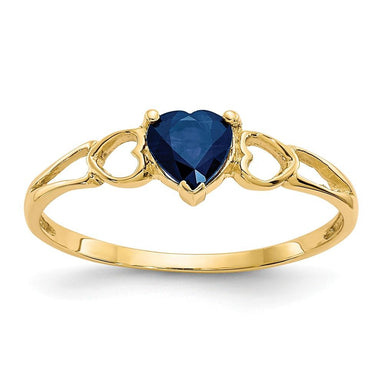 14k Yellow Gold Sapphire Birthstone Band Ring Stone September Fine Jewelry Gifts For Women For Her Wedding Bands IceCarats.com Designer Jewelry Gift USA
